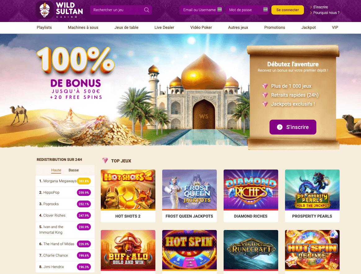 Wild Sultan casino avis